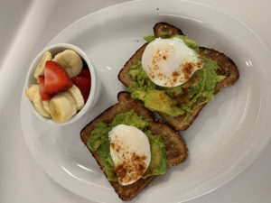 avocado & poached egg toast